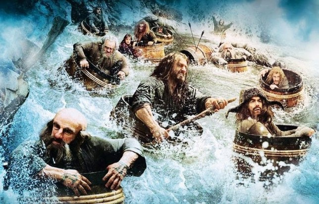 hobbit_barrel.jpg new image and poster from Peter Jackson's upcoming sequel The Hobbit: The Desolation of Smaug.