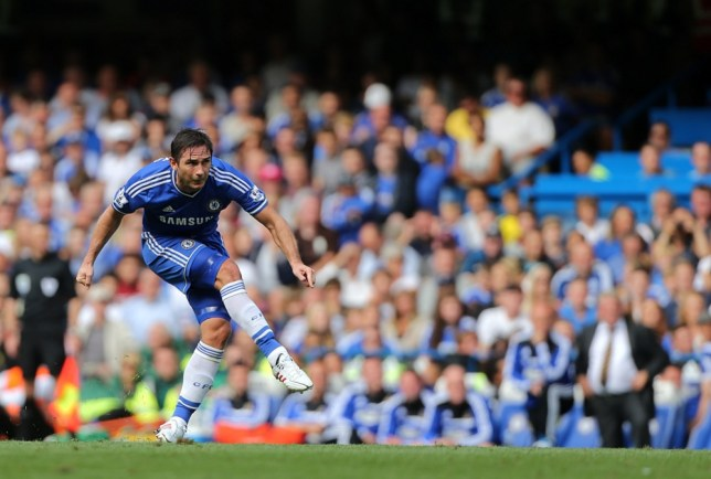 Chelsea's Frank Lampard scores his side's second goal during the Barclays Premier League match at Stamford Bridge, London. (Picture: PA)