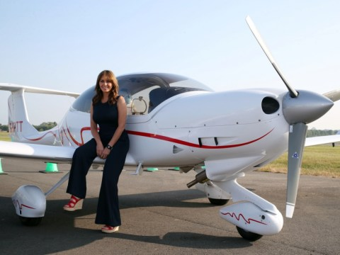 Carol Vorderman flies first solo flight live on This Morning