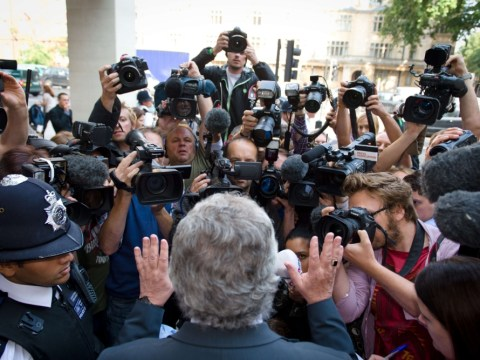 DJ Dave Lee Travis besieged by media as he appears in court to face sex charges