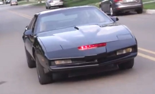 The car is a spitting image of the one driven by the David Hasselhoff in '80s classic Knight Rider (Video: YouTube/Hagerty)