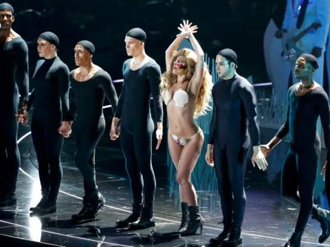 Lady Gaga receives fake boos for her performance at the MTV Video Music Awards – before comforting One Direction for the real thing