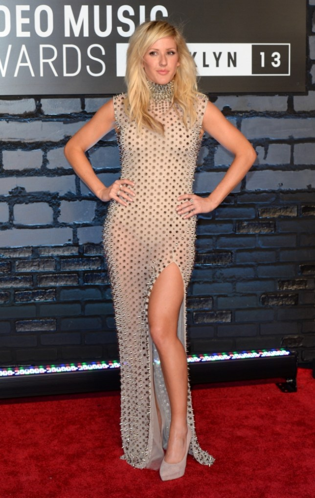 Ellie Goulding arriving at the MTV Video Music Awards 2013, The Barclay Centre, Brooklyn, New York. PRESS ASSOCIATION Photo. Picture date: Monday August 26, 2013. Photo credit should read: Doug Peters/PA Wire