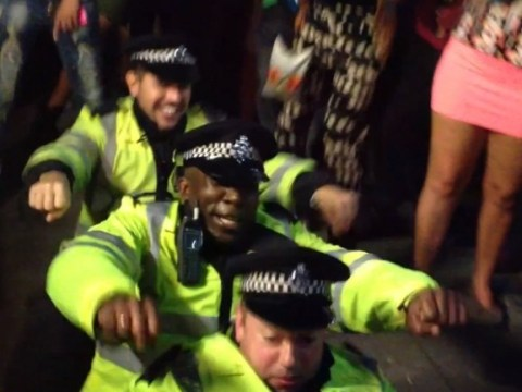 Police officers twerk and grind in dance off at Notting Hill Carnival