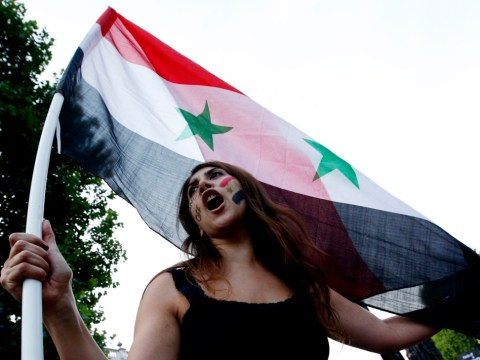 Gallery: Syria protest at Downing Street