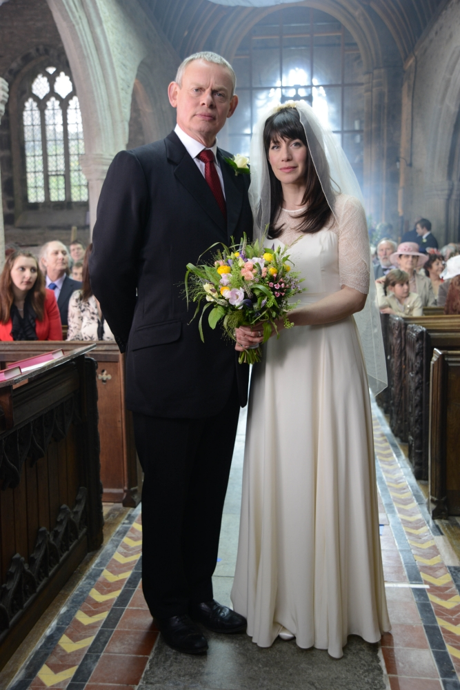 Doc Martin is up the aisle again with Louisa Glasson (Picture: Buffalo Pictures/ITV)