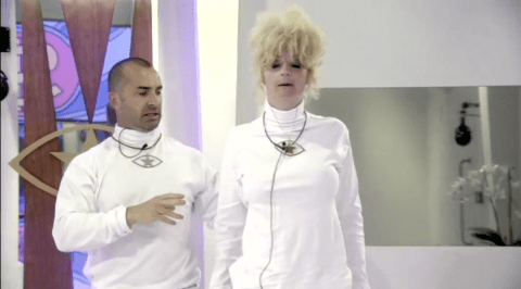 Celebrity Big Brother 2013: Louie Spence gives Lauren Harries exercise tips after disasterous workout