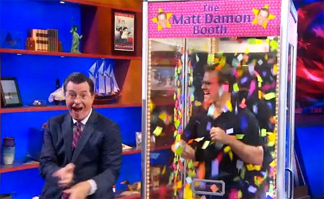 Colbert Report: Matt Damon, Hugh Laurie and Breaking Bad cast do insane Daft Punk Get Lucky dance