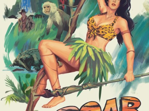 Katy Perry swings into action in retro Roar film poster