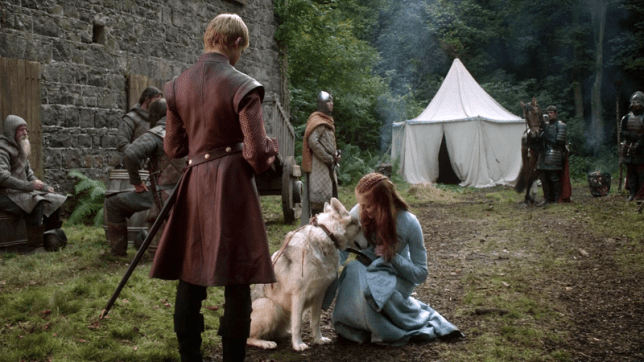 Zunni and Sophie on screen together in Game Of Thrones (Picture: HBO)