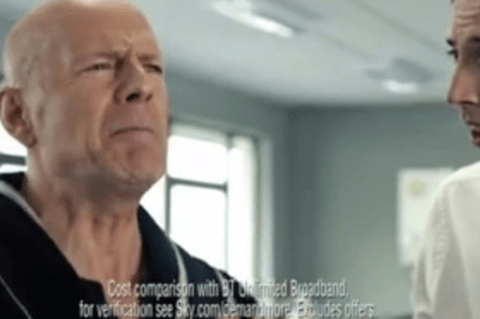 Watchdog bans Bruce Willis Sky Broadband TV advert