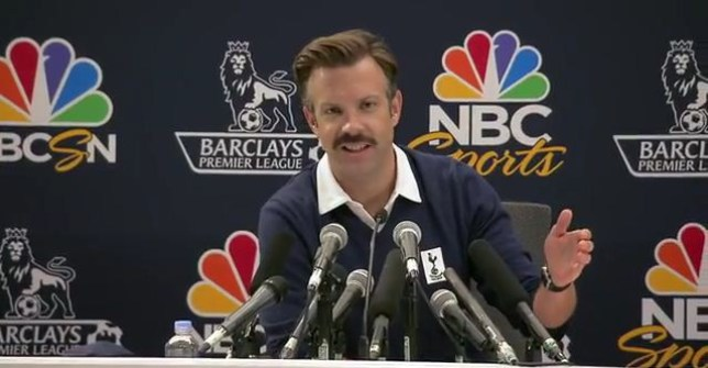 New Spurs: Jason Sudeikis plays hapless coach 'Ted Lasso'