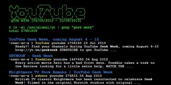 Youtube / Geek Week