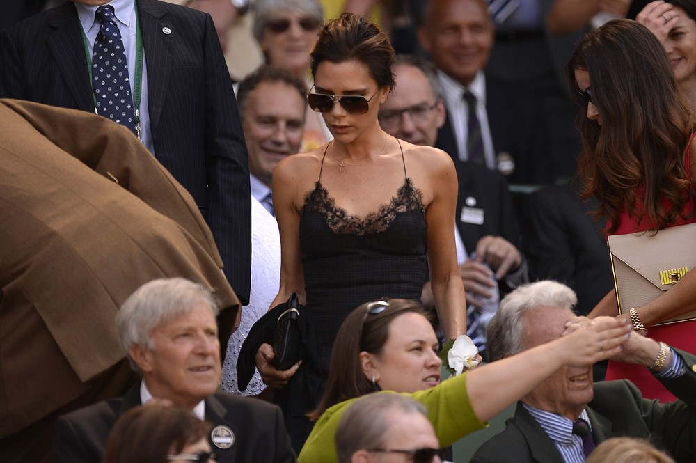 Victoria Beckham sported one of the trickier looks of 2013 at Wimbledon (Picture: AFP/Getty Images)