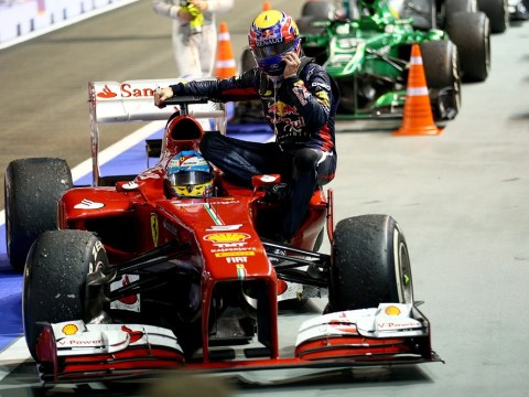 Mark Webber penalised after hitching a lift from Fernando Alonso