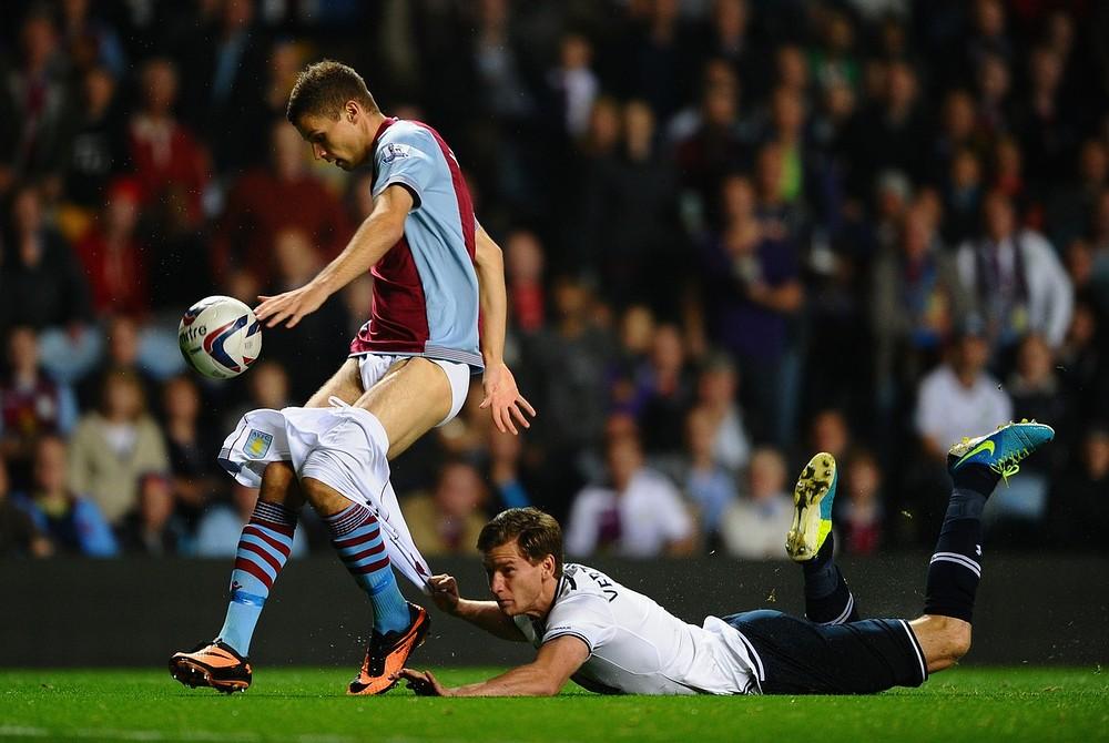 Jan Vertonghen pulls down Nicklas Helenius' pants in Spurs' win over Aston Villa