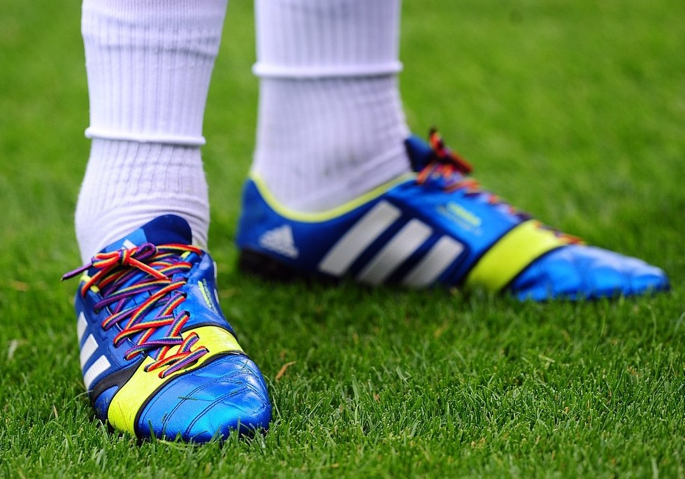 Laced up: Joey Barton lead the calls for rainbow laces last weekend (Picture: PA)