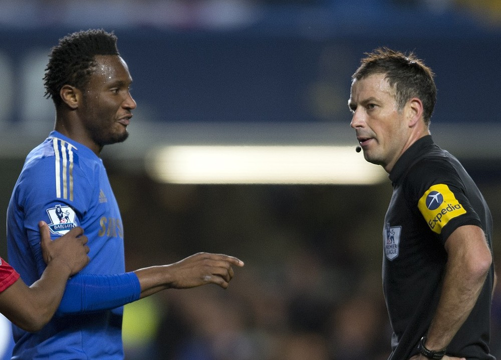 John Obi Mikel told Mark Clattenburg 'I'll break your legs', claims fellow Premier League ref Mark Halsey