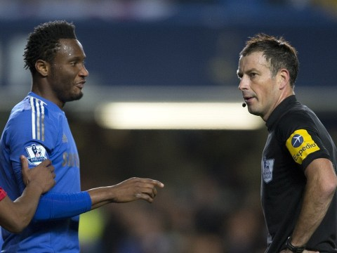 John Obi Mikel told Mark Clattenburg 'I'll break your legs', claims fellow Premier League ref Mark Halsey