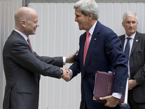 John Kerry cements US-UK 'bond' as William Hague says we should not believe Syria's Bashar al-Assad