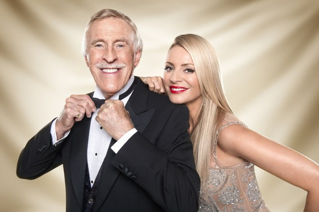 Tess Daly and Bruce Forsyth on Strictly Come Dancing
