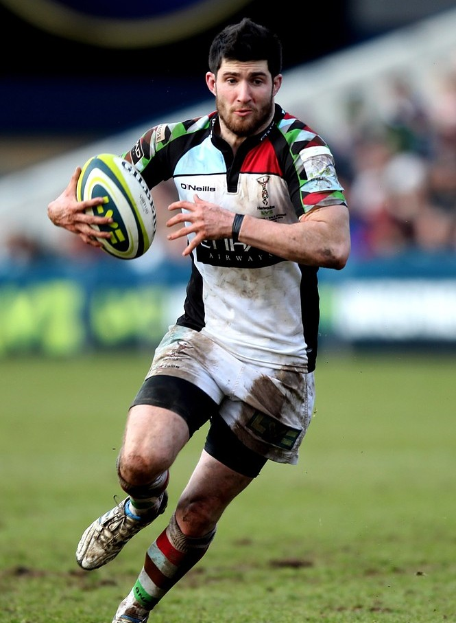 Harlequins battler Tom Casson looks to hold centre ground for club and country