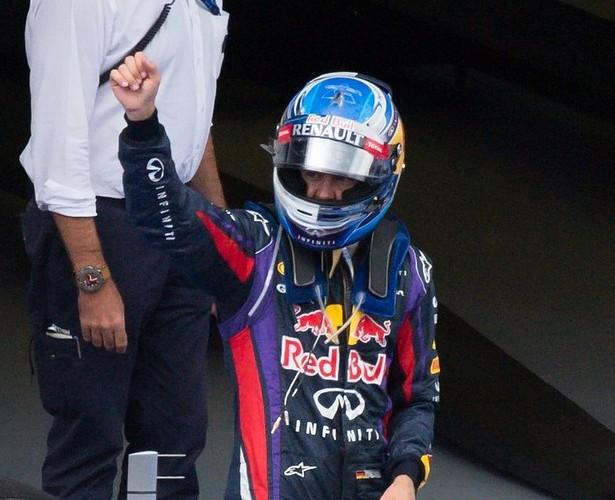 Unstoppable: Winner Vettel (Picture: AP)