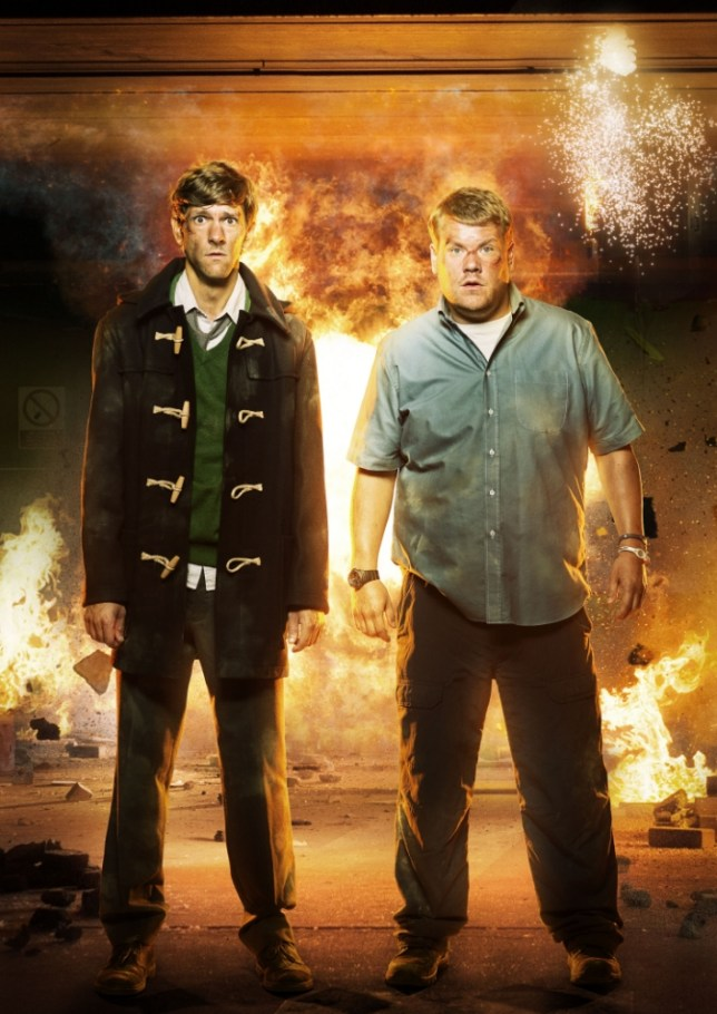 Mathew Baynton and James Corden in The Wrong Mans (Picture Picture: Des Willie/BBC)