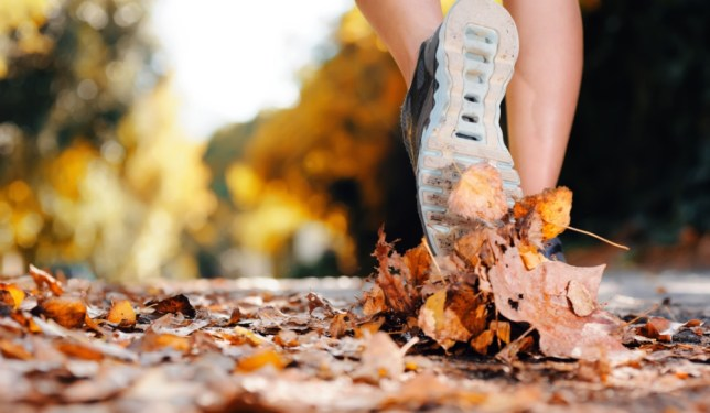 Don't let the colder weather put you off - you can still exercise outdoors (Picture: Shutterstock)