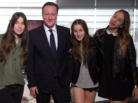 Haim dedicate song The Wire to prime minister David Cameron
