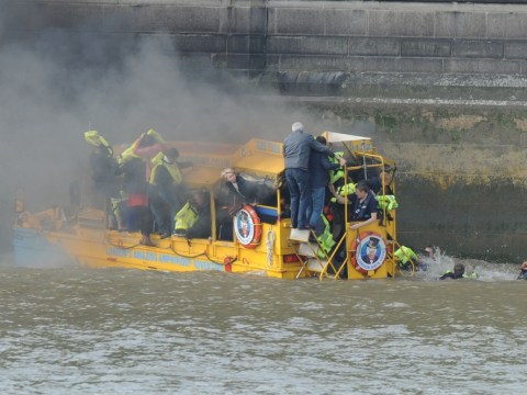 30 people rescued from River Thames after Duck Tours boat catches fire
