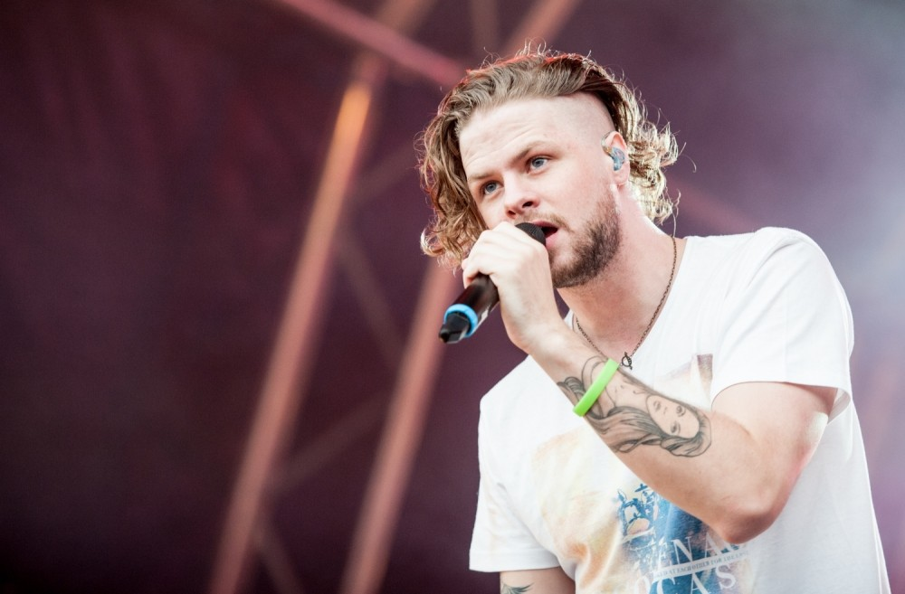 The Wanted's Jay McGuiness shows off shaved hair at Brighton SD2 Festival