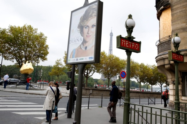 'Crass' Diana film advert placed at entrance to tunnel where princess died in Paris