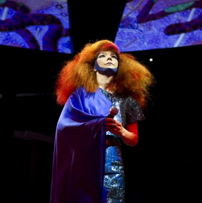 Bjork performs at Alexandra Palace tonight (Picture: Carsten Windhorst/frpap.com)