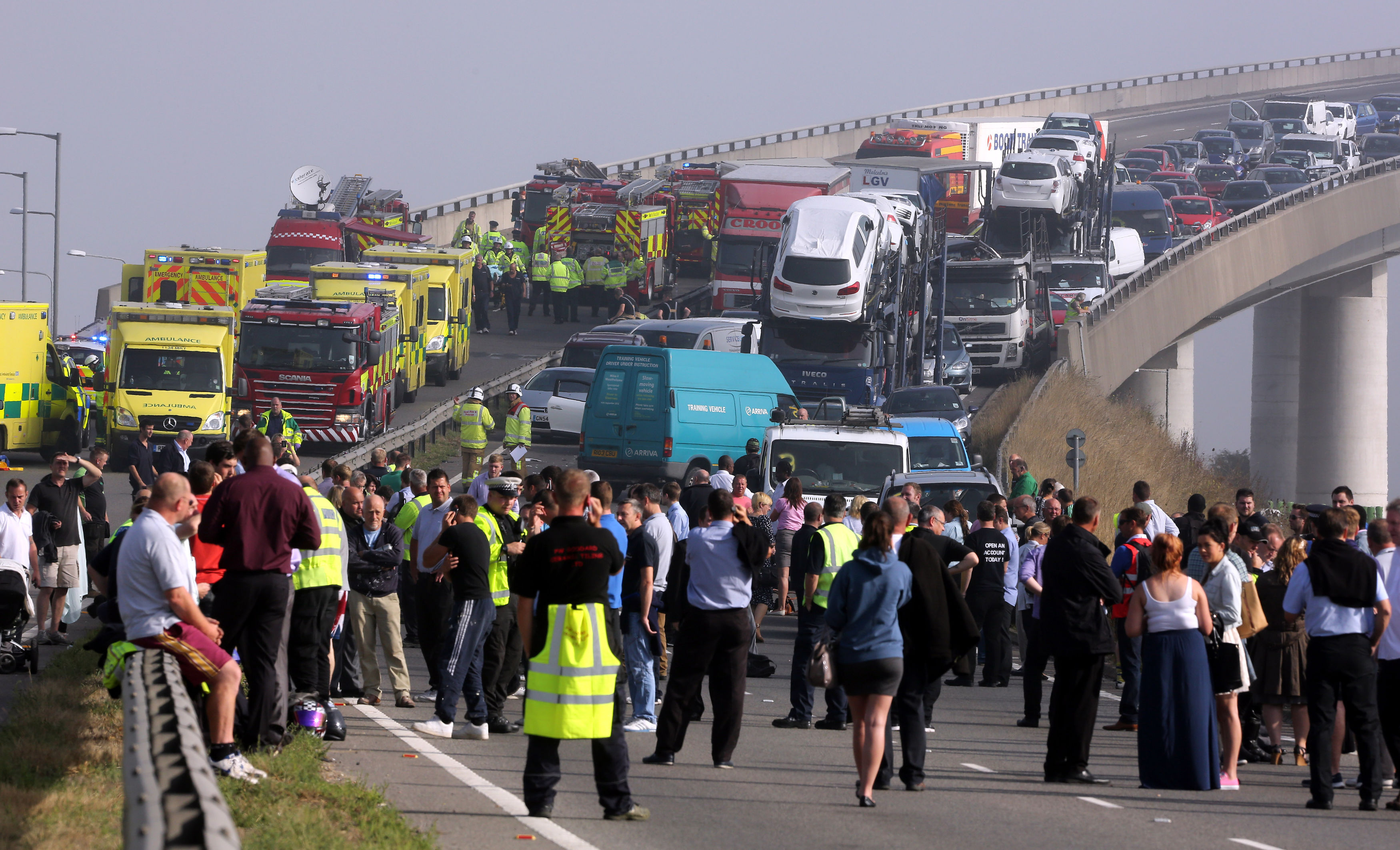 Sheppey crossing crash: Mystery lorry driver 'saved lives' by preventing pile-up becoming major disaster