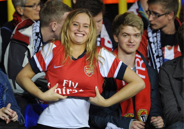 The Norwegian girl who wore an Arsenal shirt at Spurs v