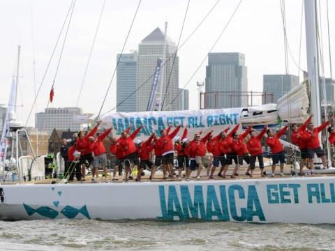 Yachting crews pay tribute to Farah and Bolt on way to Rio
