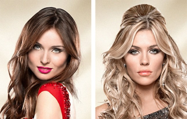 Ballroom babes: Sophie Ellis-Bextor and Abbey Clancy face off ahead of Strictly (Picture: FILE)