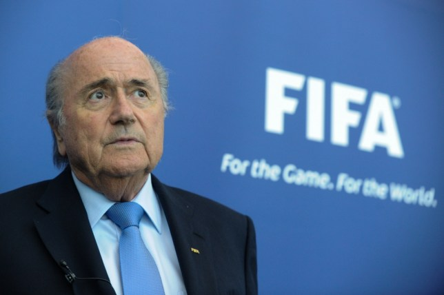 President of FIFA, Joseph Blatter, gives a press conference following a meeting of the FIFA task force with Paletestinian and Israelian football federations in Zurich, on September 3, 2013.  AFP PHOTO / SEBASTIEN BOZONSEBASTIEN BOZON/AFP/Getty Images