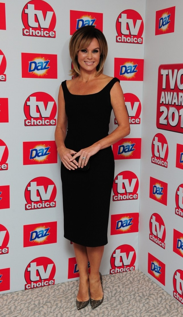 Amanda Holden arriving for the 2013 TV Choice awards at the Dorchester Hotel, London. PRESS ASSOCIATION Photo. Picture date: Monday September 9, 2013. See PA story SHOWBIZ TV Choice. Photo credit should read: Ian West/PA Wire