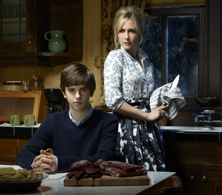 Freddie Highmore as Norman and Vera Farmiga as Norma in Bates Motel (Picture: NBC)