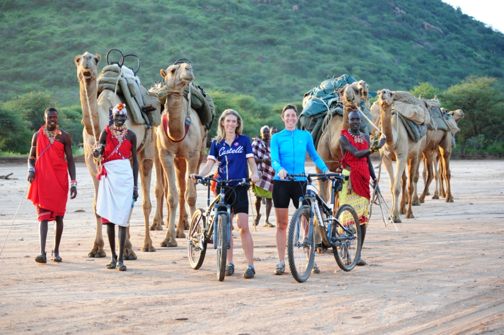 Give the camels a run for their money on a cycle safari in Kenya (Picture: Karisia.com)