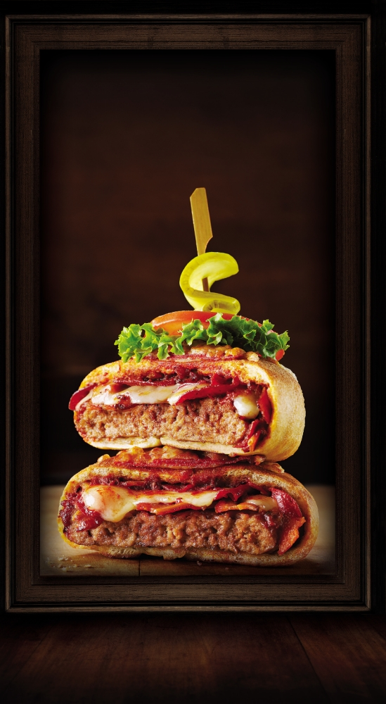 Wanna pizza this? American diner creates pizzaburger mash-up with 1,340 calories