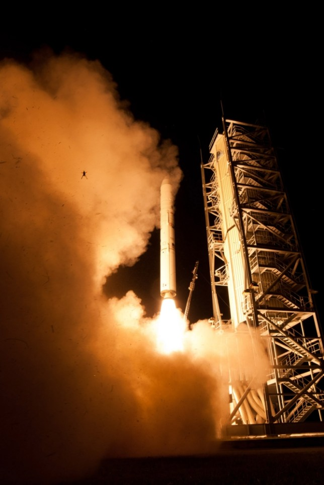 The frog tries to steal the show (Picture: NASA)