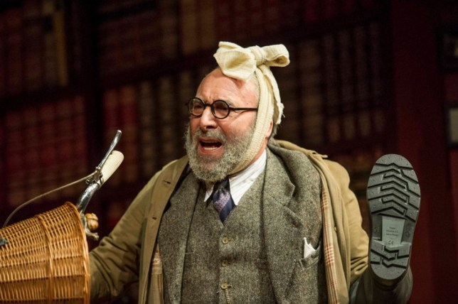Antony Sher plays a haunted Sigmund Freud in Hysteria (Picture: Alastair Muir)