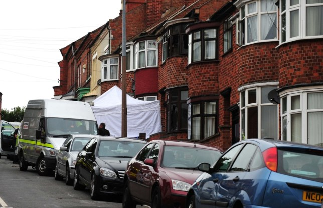 The scene of a house fire at Wood Hill, in the Spinney Hills area of Leicester which claimed the lives of four people. PRESS ASSOCIATION Photo. Picture date: Friday September 13, 2013. Police investigating the deaths have said they cannot rule out the blaze being linked to the murder of a man in a nearby street. See PA story FIRE Leicester. Photo credit should read: Rui Vieira/PA Wire