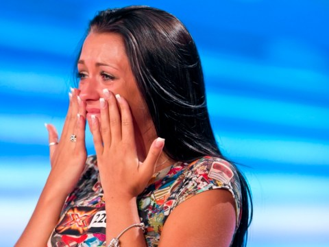 Sobbing Sharon Osbourne reunited with X Factor reject Stephanie Woods after six years