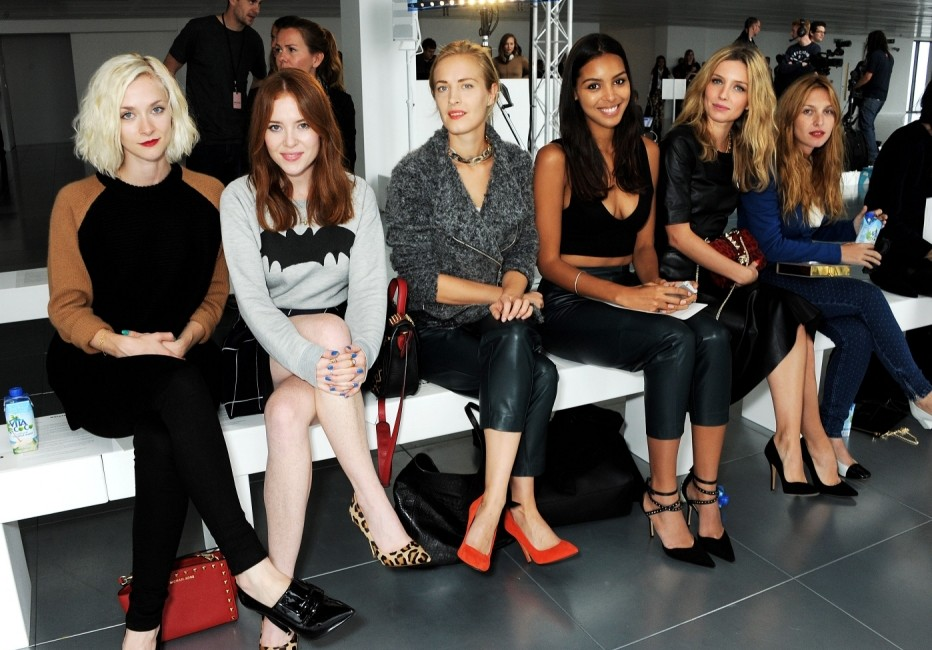 Hanging out on the LFW Frow (that's front row to you and me)