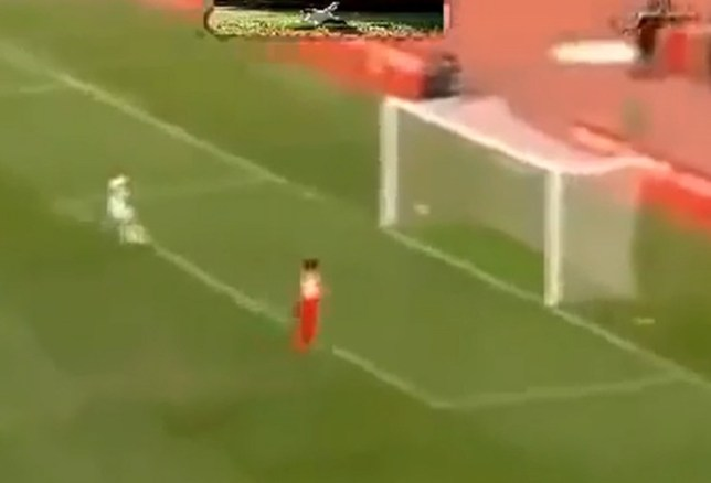Wide of the mark: Yachir produces his moment of madness (Picture: YouTube)
