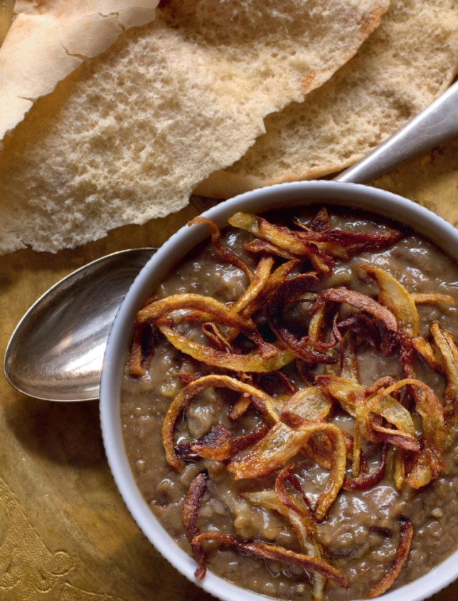 Warm lentil puree with onions (Picture: Dan Lepard)